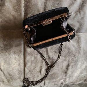 Giorgio Armani velvet clutch evening bag